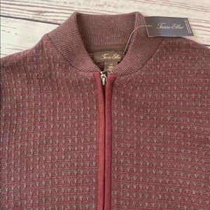 Tasso Elba Sweaters - Tasso Elba men's cardigan zip up